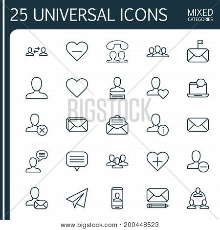 Network Icons Set. Collection Of Privacy Information, Communication, Significant And Other Elements