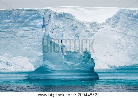 Antarctica - Antarctic Peninsula - Palmer Archipelago - Neumayer Channel - Global warming - Fairytale landscape - Tabular Iceberg in Bransfield Strait poster