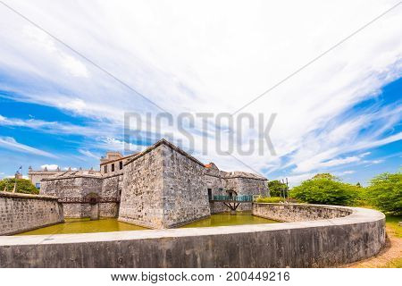 Castillo de la Real Fuerza Havana Cuba. Copy space for text