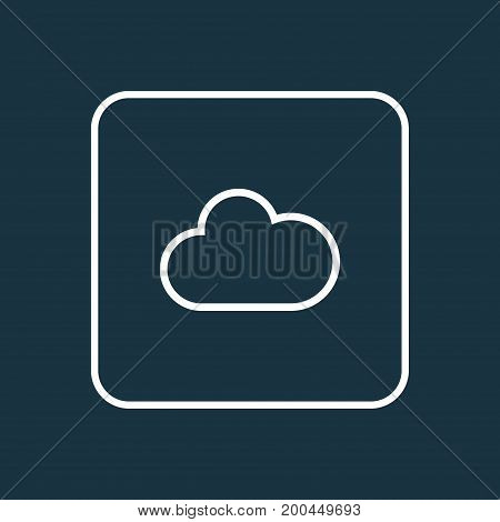 Premium Quality Isolated Cloud Element In Trendy Style.  Fog Outline Symbol.