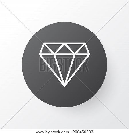 Premium Quality Isolated Brilliant Element In Trendy Style.  Diamond Icon Symbol.