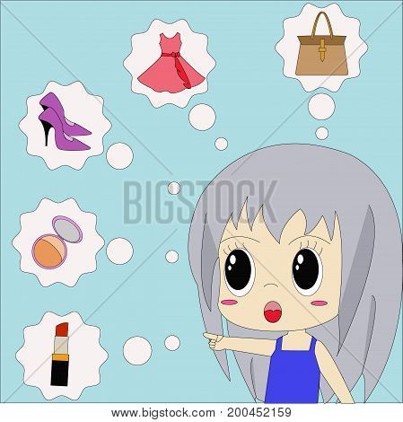 Vector image that represents the demand of women.