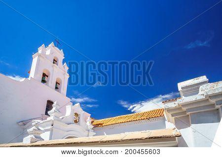 View on colonial Santa Teresa church in Sucre - Bolivia