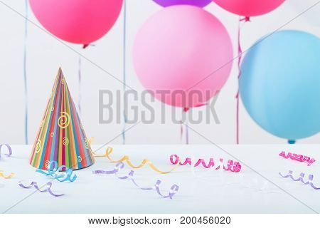 the background of balloons for birthday on white