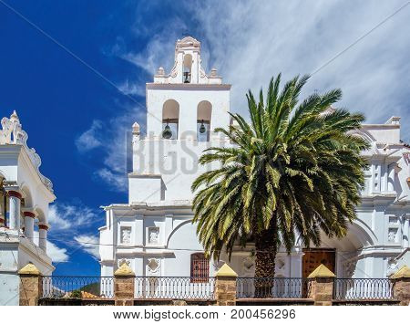 View on colonial Santo Domingo church in Sucre - Bolivia