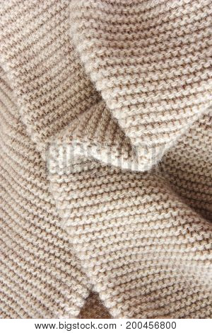close up image of woolen soft texture