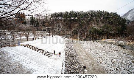 Winter Scenery In Japan