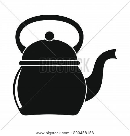 Kettle in black simple silhouette style icons vector illustration for design and web isolated on white background. kettle vector object for labels and logo