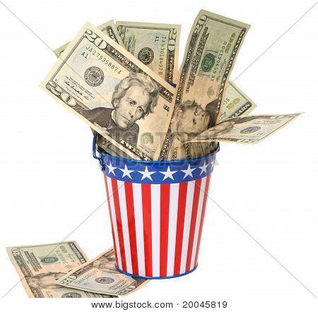 Uncle Sam's Collection Pail