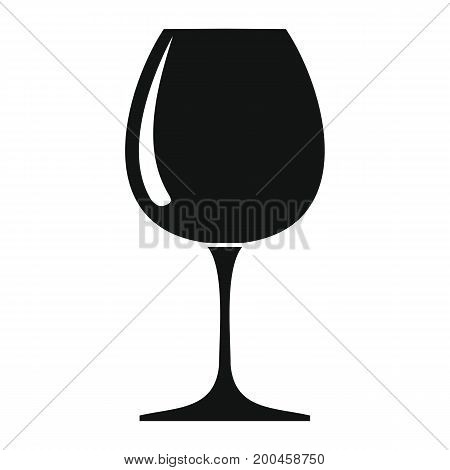 Wine glass in black simple silhouette style icons vector illustration for design and web isolated on white background. Wine glass vector object for labels and logo
