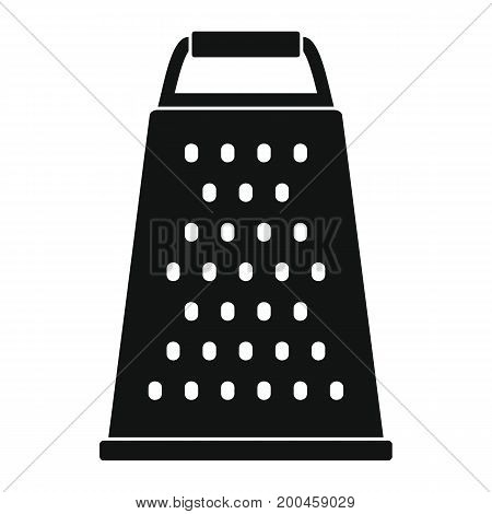 Grater in black simple silhouettestyle icons vector illustration for design and web isolated on white background. Grater vector object for labels and logo