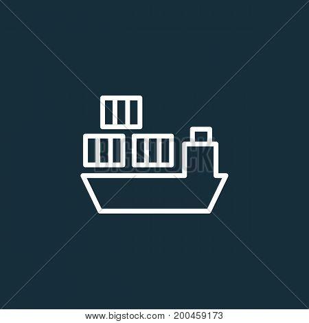 Ship Icon On Dark Background