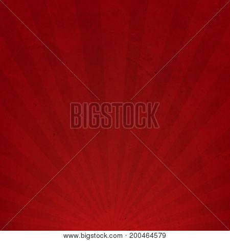 Red Sunburst Cardboard Paper