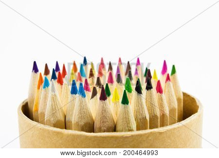 Colorful pencils. Colorful pencils on white background