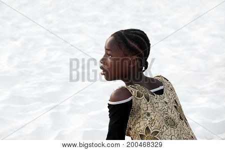 Surprised African Teen Girl