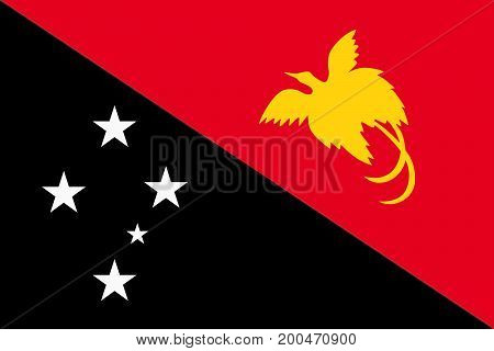 Vector illustration of National Flag of Papua New Guinea