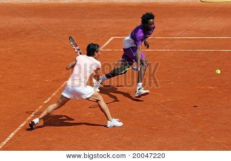 Gael Monfils And Francesca Schiavone At Roland Garros 2011