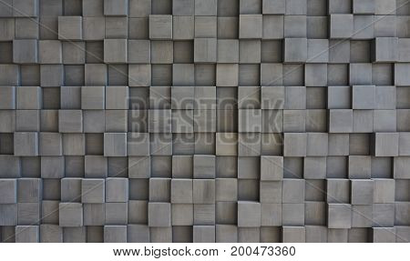 Decorative wall decoration in the house with the help of wooden bars