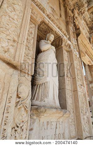 Personification Of Virtue, Arete Statue In Ephesus Ancient City