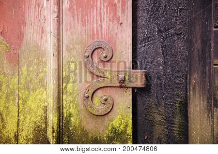 Close-up View At Door Hinge