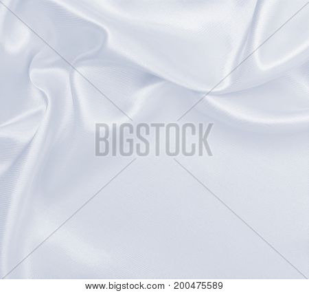 Smooth Elegant Grey Silk Or Satin Luxury Cloth As Wedding Background. Luxurious Background Design