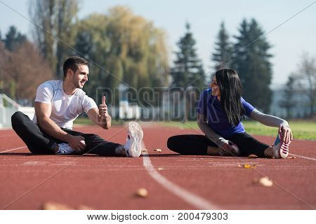 Stretching Exercise Outdoors