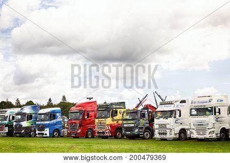 Truck Lineup At Truckfest 2017 Uk