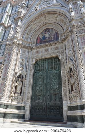 A view of Duomo in Florence Italy