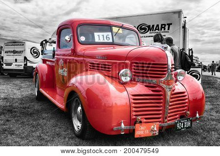 Vintage Dodge Coca Cola Red Truck