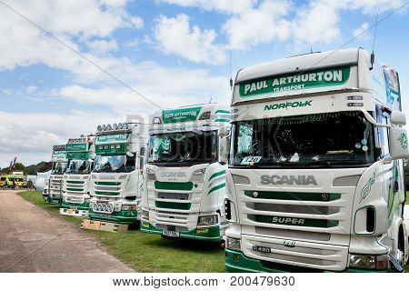 Paul Arthurton Scania Trucks At Truckfest Norwich Uk