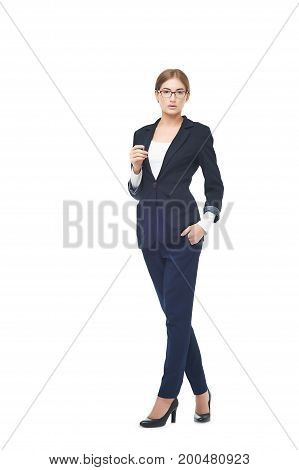 Business Woman Full Length Portrait