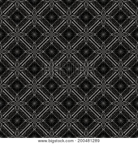 Abstract geometric pattern with lines rhombuses and seamless background. Black and grey texture.