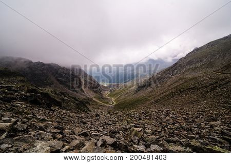 View of a landscape after an excursion on the Alps of the Trentino Alto Adige