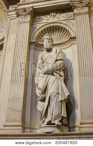 Saint Paul By Michelangelo - Siena Cathedral, Italy