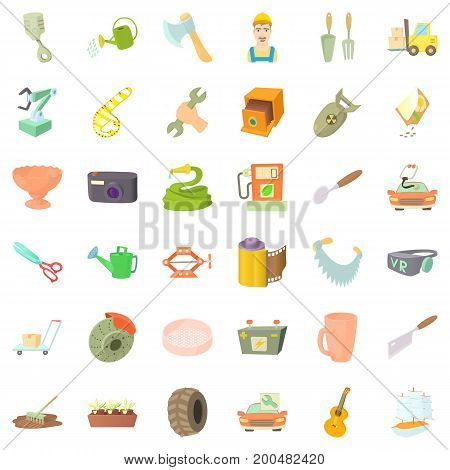 Good craft icons set. Cartoon style of 36 craft vector icons for web isolated on white background