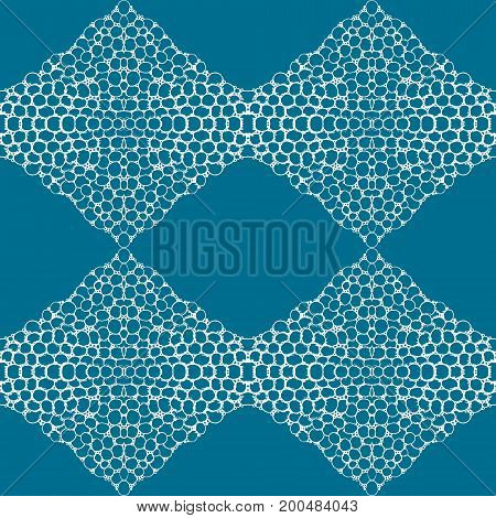 Blue tiles with seamless pattern. Vector illustration. Drawing by hand