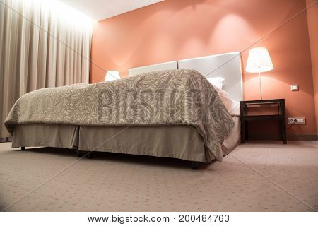 A double bed room in luxury suite