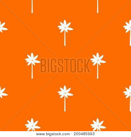 Palm woody plant pattern repeat seamless in orange color for any design. Vector geometric illustration