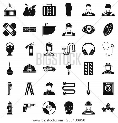Useful profession icons set. Simple style of 36 useful profession vector icons for web isolated on white background