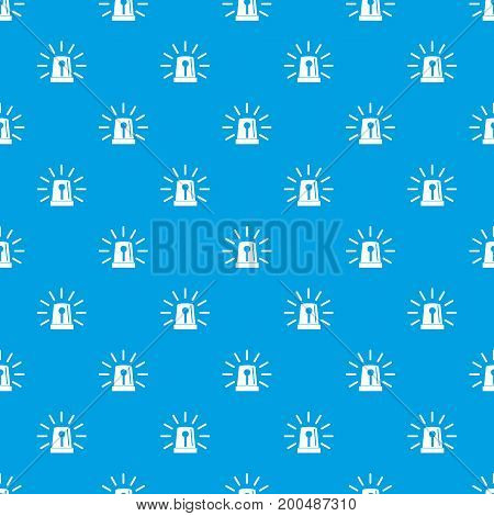 Flashing emergency light pattern repeat seamless in blue color for any design. Vector geometric illustration