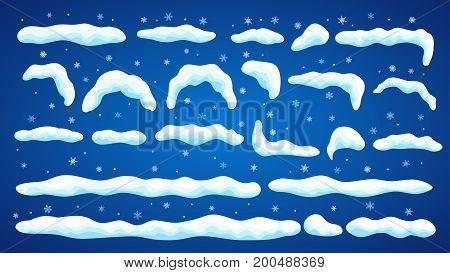 Set Of Snowdrifts