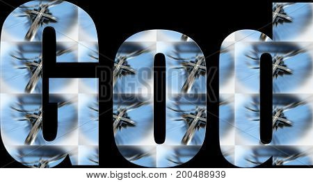 God Logo With Crosses In Logo High Quality