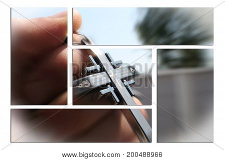 Religious Cross In Hand Zoom Burst High Quality