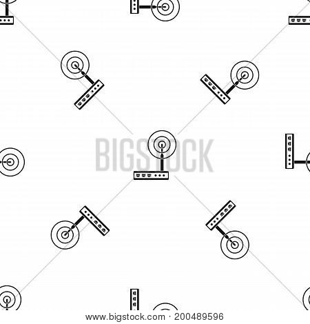 Wifi router pattern repeat seamless in black color for any design. Vector geometric illustration