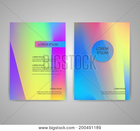 Brochure flyer layouts with abstract colorful background in A4 size. You can use it for poster, magazine cover or card templates