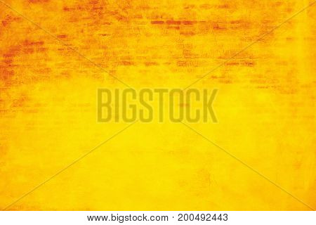 Texture and background of yellow concrete wall.