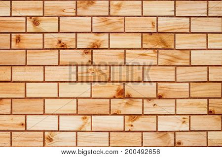 Backdrop of old wooden bricks wall texture.