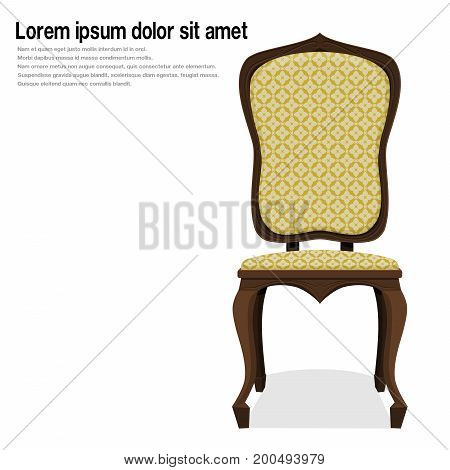 Isolates wooden vintage chair on transparent background,