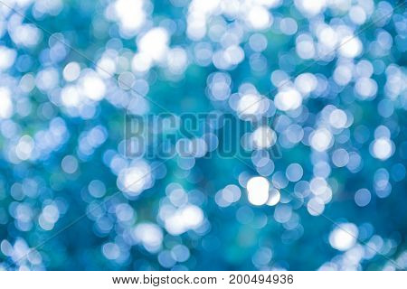 blue bokeh light and abstract blur background