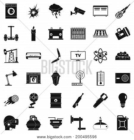 Use of energy icons set. Simple style of 36 use of energy vector icons for web isolated on white background